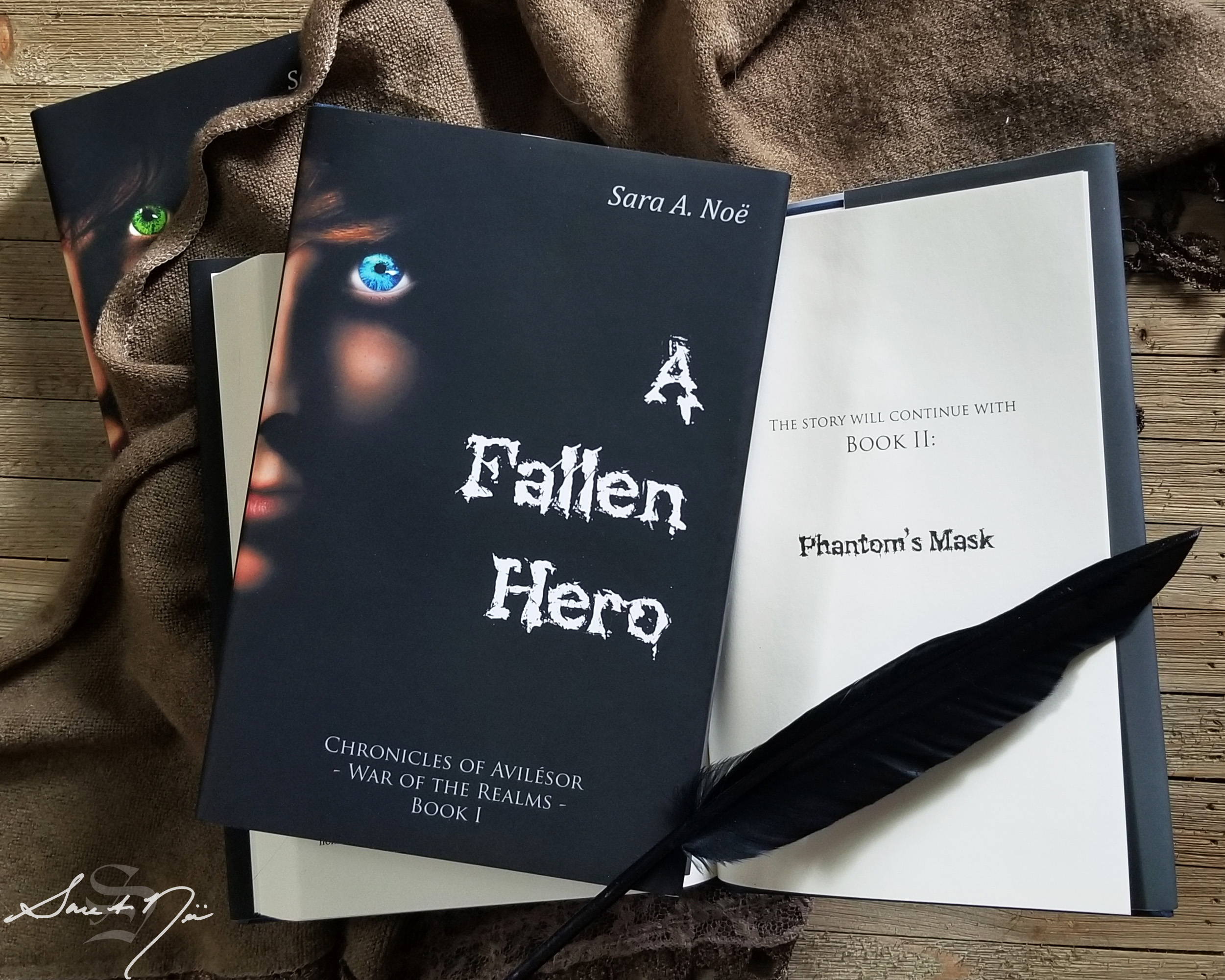 A Fallen Hero and Phantom's Mask by Sara A. Noe